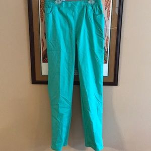 Erin London Cotton Blend Pants Size 6 Green